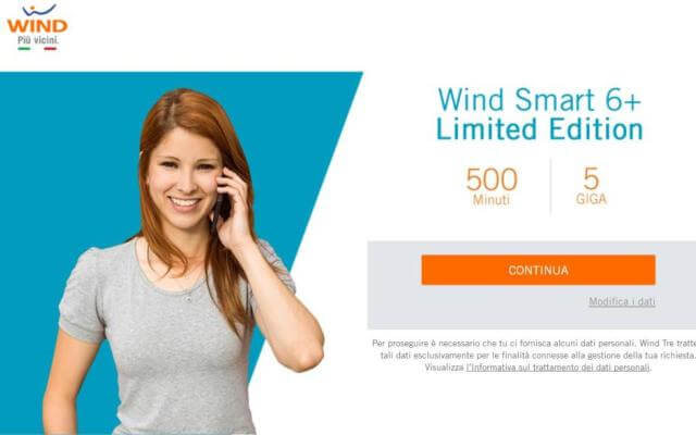 Wind Smart 7 Star: 1.000 minuti e 15 GB di Internet