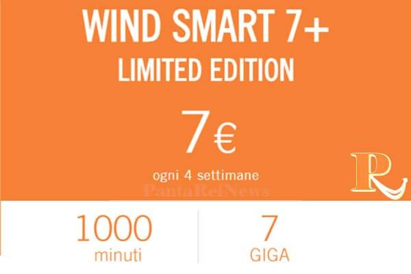 Wind smart 7 limited edition 1000 minuti 7gb a 7 solo - Bolletta telefonica ogni 4 settimane ...