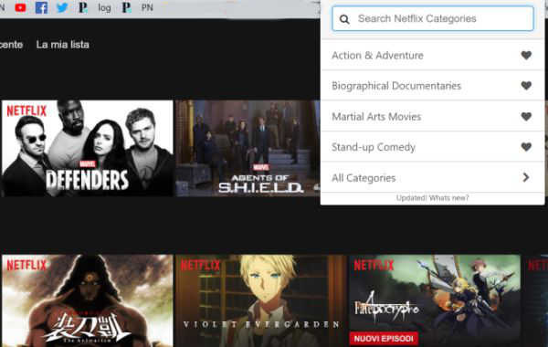Netflix: come accedere alle categorie nascoste sul browser C