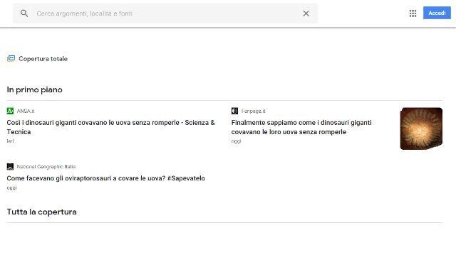 Recensione Google News: un'operazione commerciale riuscita m