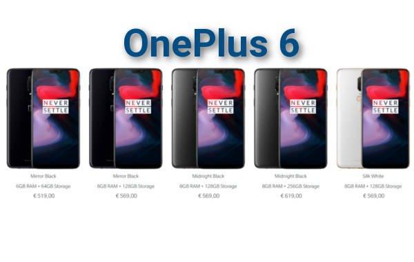 OnePlus 6 ufficiale |  uscita |  specifiche |  prezzo tutti i dettagli
