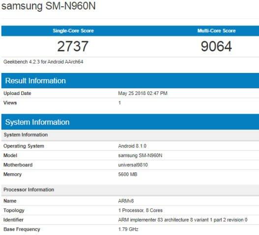 Samsung Galaxy Note 9 a fine luglio? Exynos più potente dell