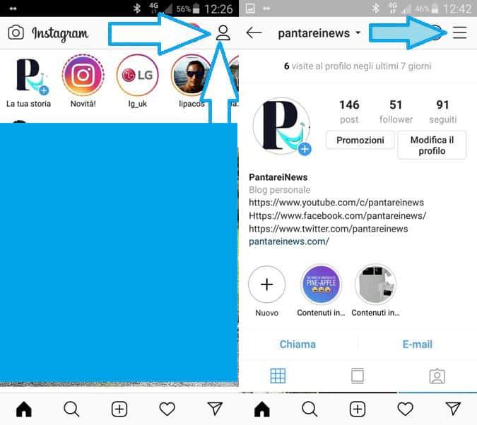 Come risolvere problemi di condivisione tra Instagram e pagi
