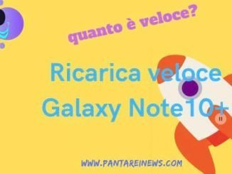tempi ricarica galaxy note 10 plus