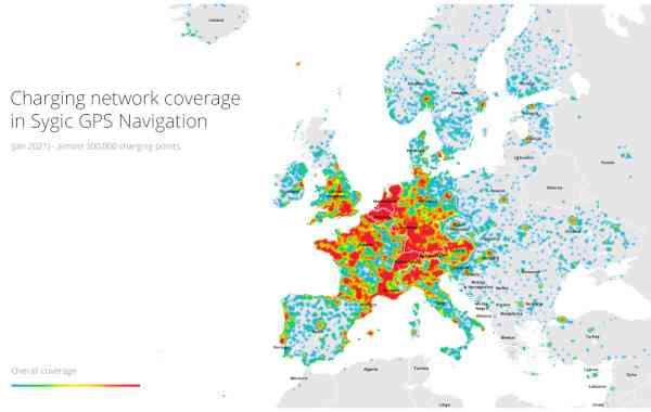 Su Sygic GPS Navigation la rete di ricarica per le auto elettriche